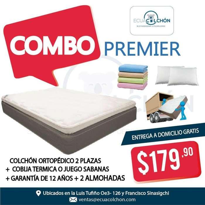!! COLCHONES 2 PLZ !! COLCHON 2 PLZ , ALMOHADAS, SABANAS, COLCHÓN , *0960705637* whatsap