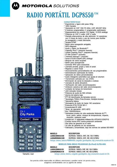 Radio Portatil Digital <strong>motorola</strong> DGP8550