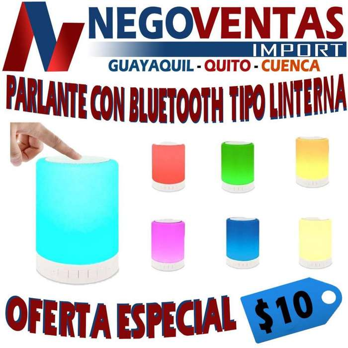 PARLANTE BLUETOOTH TIPO LINTERNA CON LUCES LED