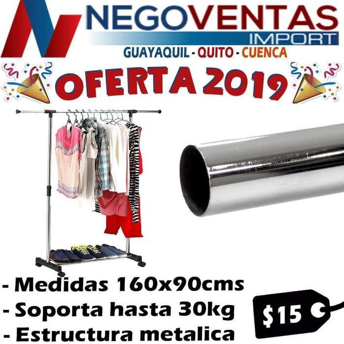 ROPERO DE UN TUBO ESTRUCTURA METALICA DE OFERTA
