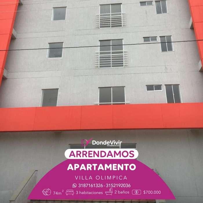 Apartamento Villa Olímpica. Arriendo