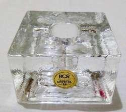 Cubo De Cristal Porta Vela, RCR 518 grs
