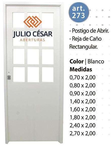 Puerta Doble Inyectada Premium Postigo 1/2 Abrir 70x200
