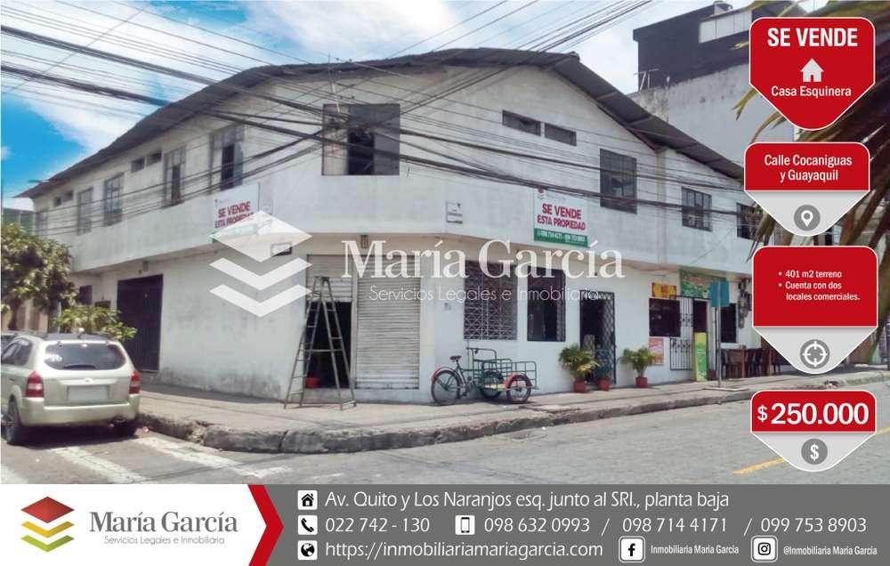 Casa comercial de venta con locales comerciales