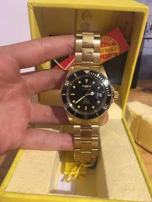 Reloj Invicta Automatico bañado en <strong>oro</strong>