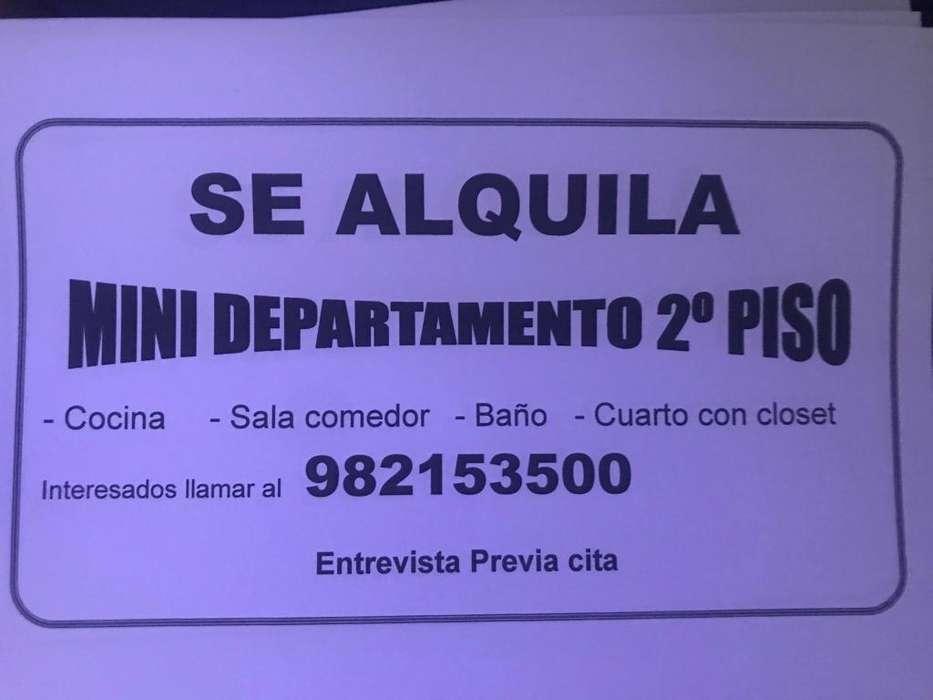 ALQUILO MINI DEPARTAMENTO EN LOS OLIVOS