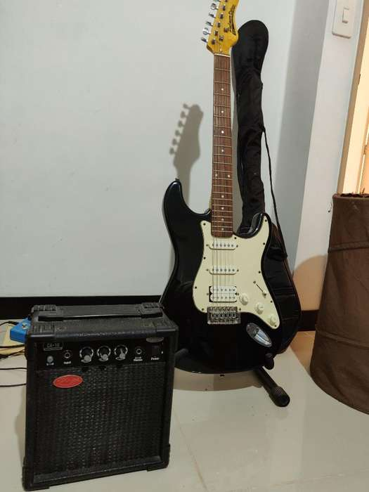 Vendo Guitarra Palmer con Amplificador