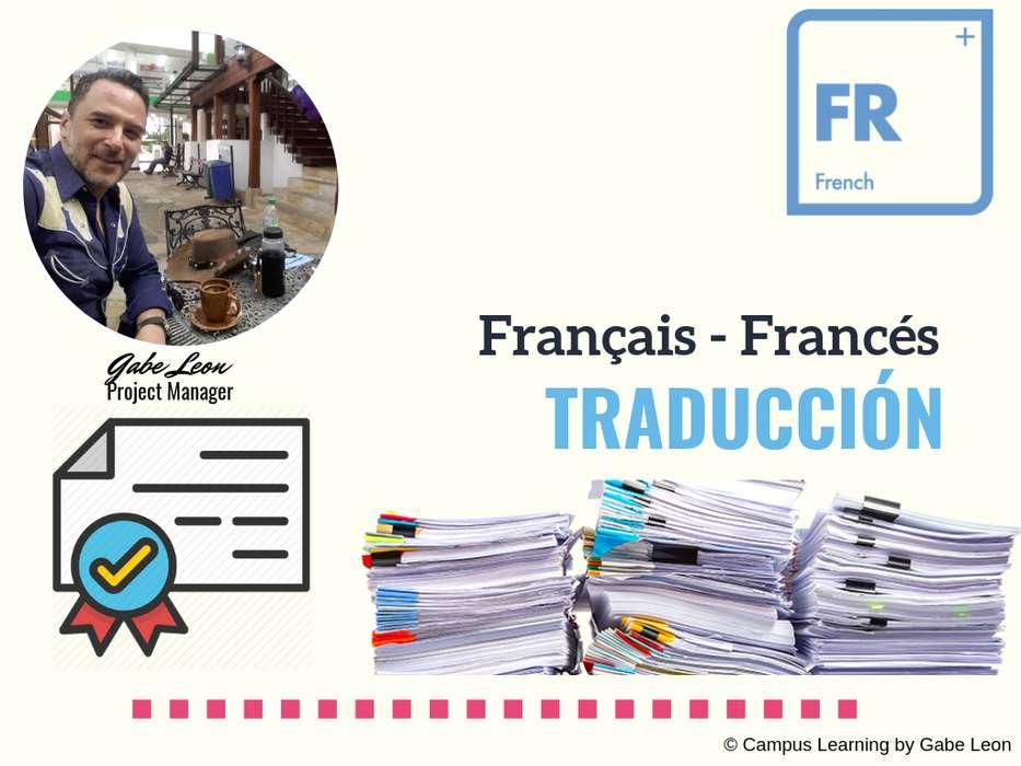Traducciones OFICIALES ESPAÑOL- FRANCES por TRADUCTORES Certificados y Registrados