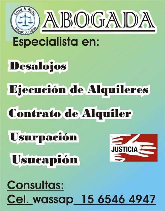 ABOGADOS DESALOJOS EJECUCION ALQUILERES CARTAS DOCUMENTOS MORON CABA
