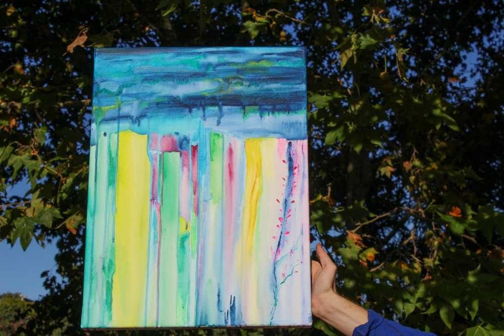 cuadro pintado a mano