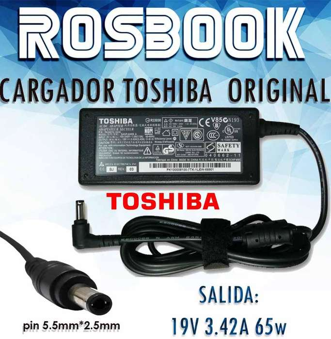 Cargador Notebook Toshiba Original 19v 3.42a