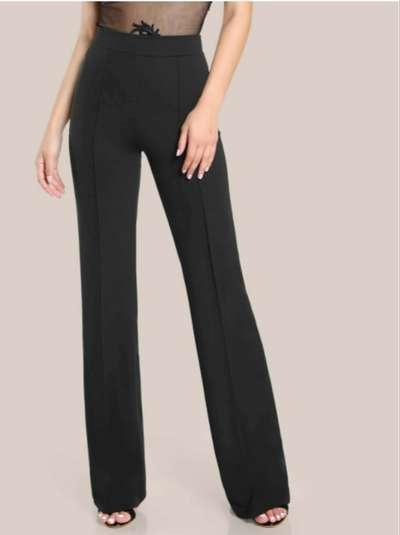 Pantalones Rectos De Tiro Alto Ropa Y Calzado 1103704425