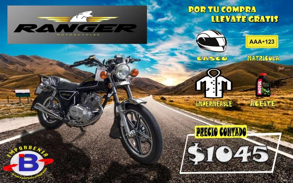 MOTO RANGER 150 AT-10 CASCO MATRICULA ACEITE IMPERMEABLE