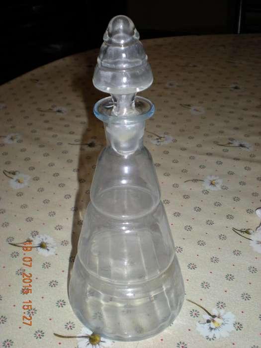 Antiguo Botellon De Vidrio