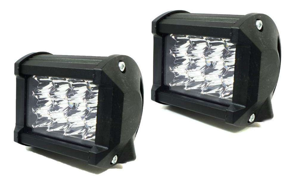 PAGO CONTRA ENTREGA, Par Luces Exploradora 12 Led 7200lm Carro Moto Switch
