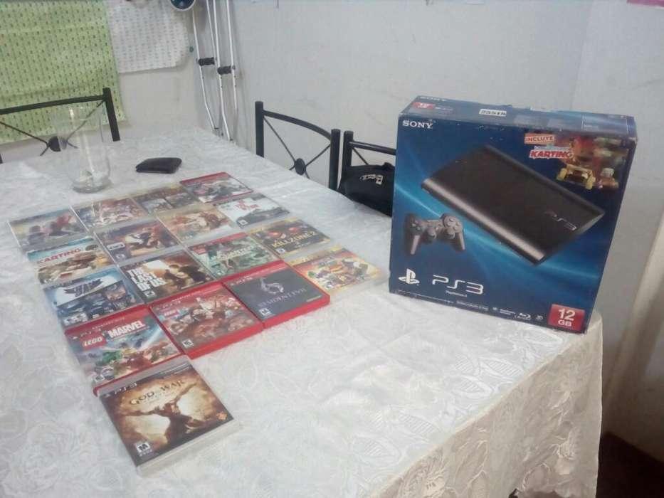 Ps3 de 200 Gb Y 17 Juegos Originales