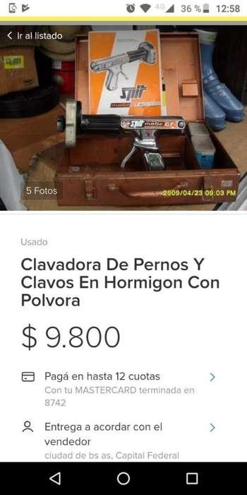 Clavadora de Pernos Y Clavos en Hormigon