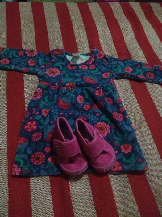 Vestido Y Botitas Beba
