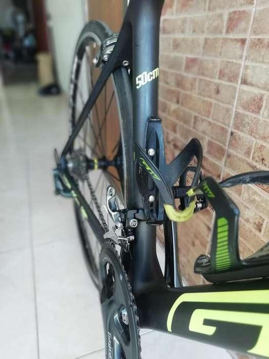 Bicicleta Ruta Carbono Talla S, Rodillo para entreno