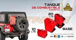 Tanque de Combustible metalico Jerry Can 20L 10L gasolina