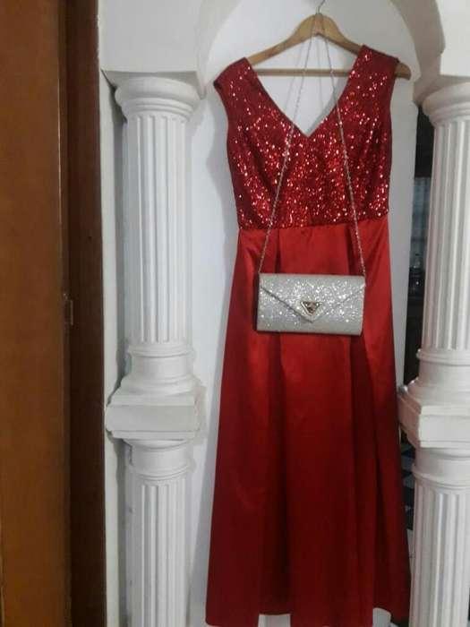 Vestido de Fiesta Raso de Seda
