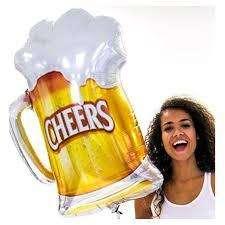 Globo Metalizado Chopp Cerveza para celebraciones ,50 años etc