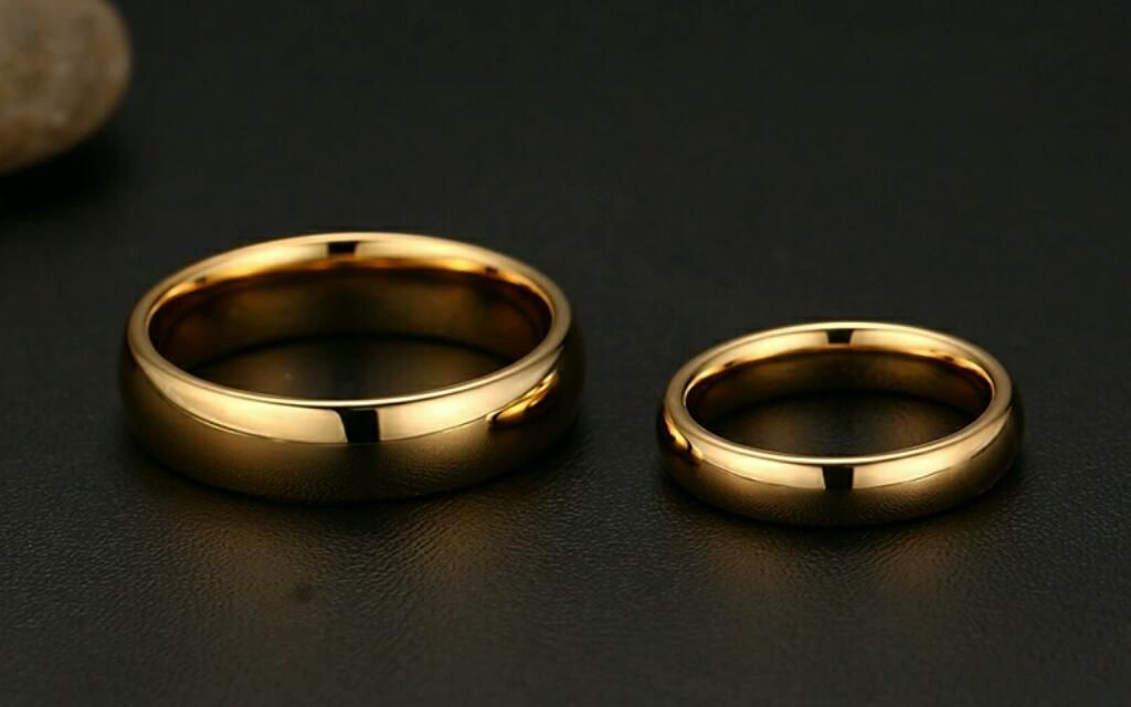 9cf52cd36878 Aros de Matrimonio Oro 18k Y Plata 925 Boda Anillos Aniversario Amor  Celular Joyas Tv S6