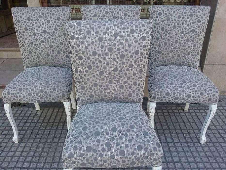 impecables sillas restauradas