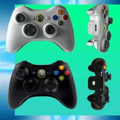 Nuevo Control Xbox 360 Inalambrico 2 Pilas Aa Negro Blanco