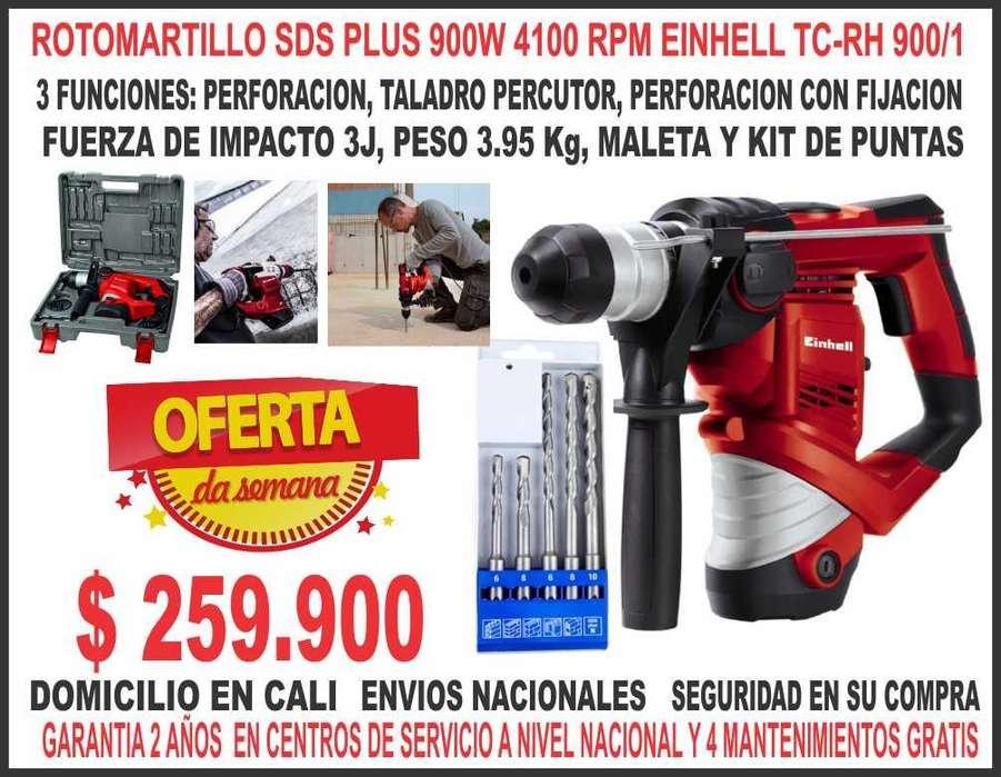 Rotomartillo Sds Plus 900w 3j 4100 Rpm Einhell Tc-rh 900/1