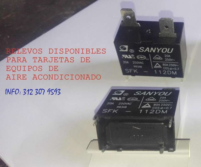 Rele Relay Tarjeta Electronica Para Aires On Off 20 Amps