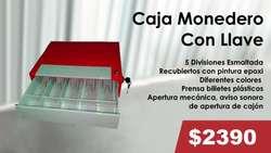 CAJA MONEDERO (CON LLAVE/SIN LLAVE - DE 4 Y 5 ESPACIOS)