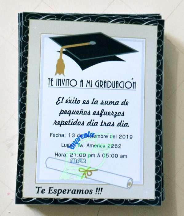 Tarjeta de Graduación Personalizadas