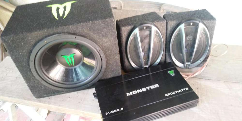 POTENCIA MONSTERSUBWOOFERPARLANTES SONY