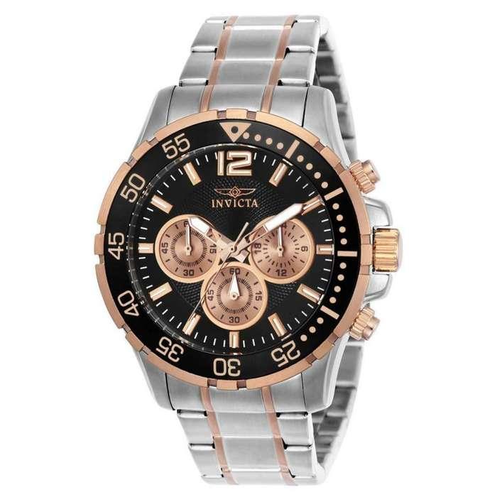 Reloj Hombre Invicta Specialty Crono Plateado Oro Rosa 23667