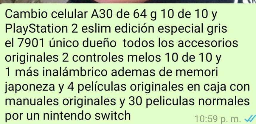 Cambio a Nintendo switch