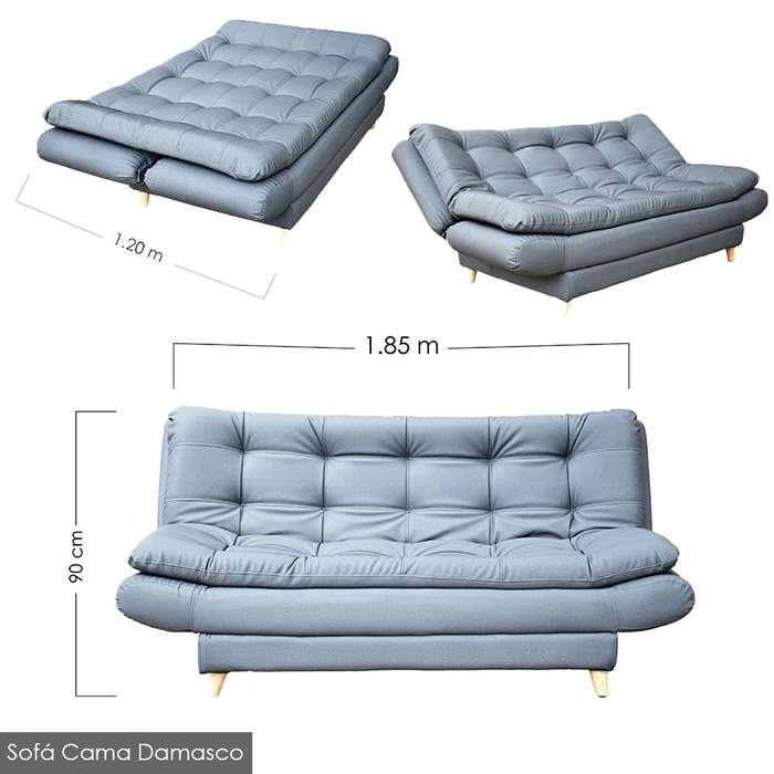 Sofa cama de tres posiciones