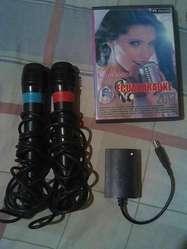vendo microfono y discos de musica originales