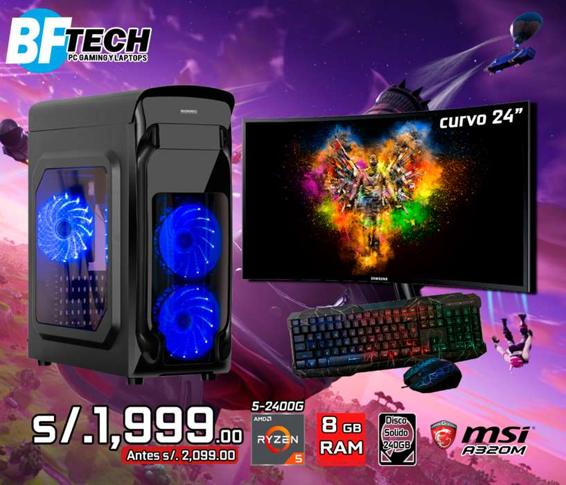 PC GAMING RYZEN 5 2400G 3.6GHz 14