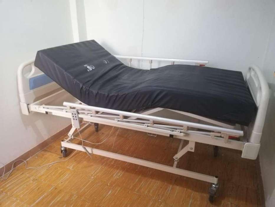 <strong>cama</strong> eléctrica con colchón antiescaras