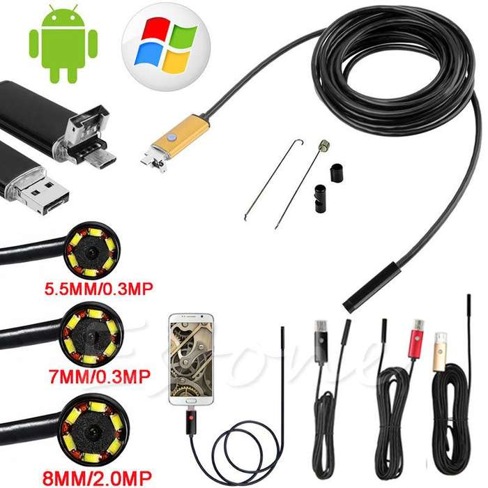 Endoscopio Usb 6led 2mp 8.0/640x480 5.5 Impermeable Otg Android Ip67 NUEVO CABA La Plata