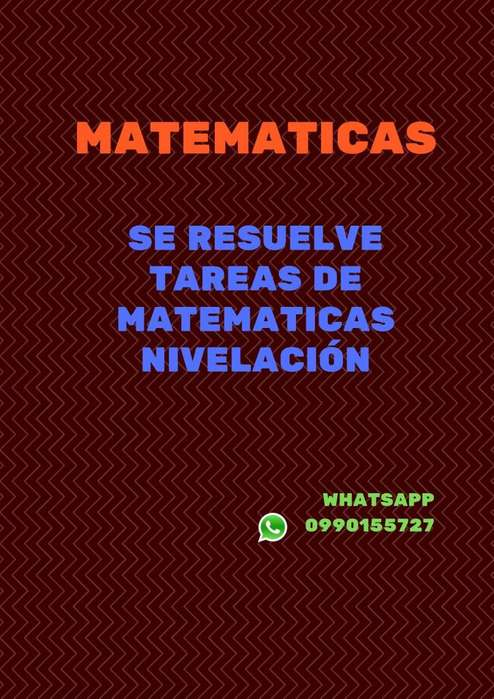 Tareas de matematicas