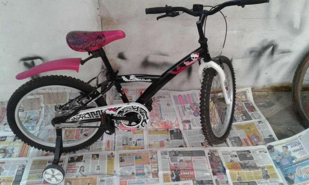 Bicicleta Niñas Monster High