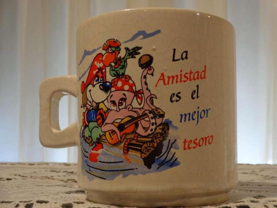 JARRO DE CERAMICA CON LEYENDA DE LA AMISTAD