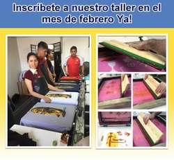 Curso de Estampado y Serigrafía - Diseño Grafico Textil