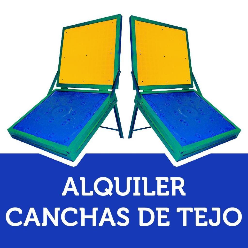 ALQUILER CANCHAS DE TEJO, MINITEJO, MINI TEJO, TRADICIONALES, RANA, BOLIRANA