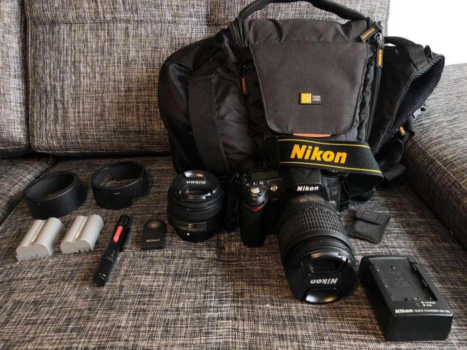 Camara Reflex Profesional Nikon D90 con 2 Lentes, 2 Baterías y Estuche