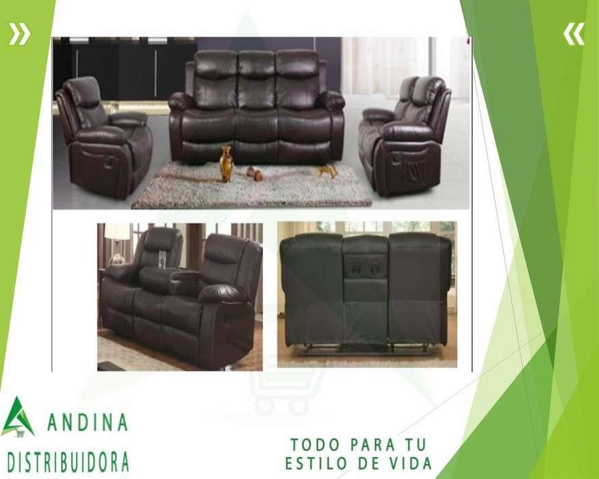 Sofá Reclinable Dos y Tres Puestos Modelo Elegante