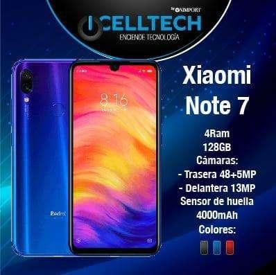 XIAOMI REDMI NOTE 7 4GB 128GB ESTUCHE GRATIS 245