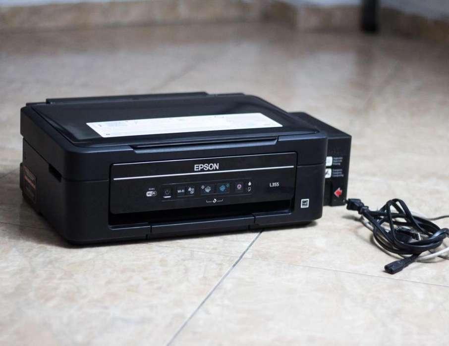 Impresora Epson L355 multifuncional para Repuestos tintas